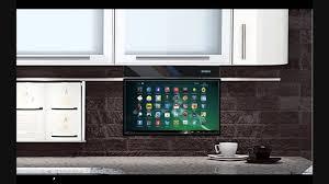 under cabinet mount tv for kitchen eidola under cabinet 17 smart tv youtube for extraordinary under