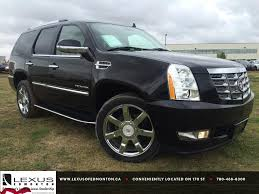 used lexus for sale alberta pre owned black 2012 cadillac escalade awd luxury in depth review