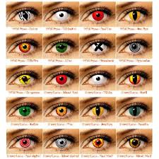 9 images eye contacts colored
