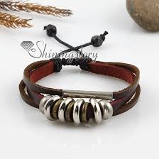 leather women bracelet images Adjustable alloy genuine leather bracelets for man and women wholesale jpg