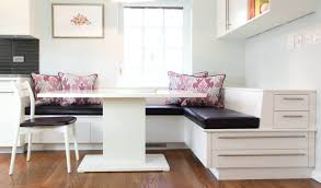 awesome kitchen bench seating ideas blue corner booth using