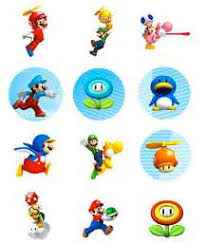 mario cake toppers mario bros mini figure cake toppers cheaper birthday party