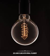 large globe light bulbs vintage light bulb by dowsing reynolds notonthehighstreet com
