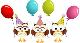 owl balloons birthday owls with balloons stock vector image 48915697