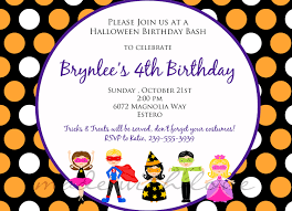 Halloween Happy Birthday Images by Halloween Birthday Party Invitations Birthday Party Invitations