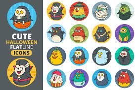 cute halloween png cute flat halloween characters vol 2 by design bundles
