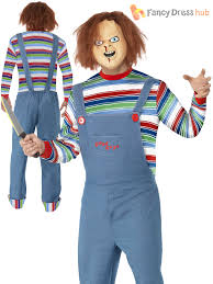 Ebay Halloween Costumes Adults Ladies Mens Chucky Costume Halloween Fancy Dress Horror