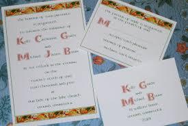 celtic wedding invitations custom wedding invitations for theme weddings renaissance