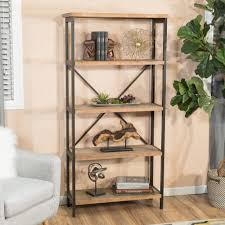 Bookcase 5 Shelf Perth 5 Shelf Industrial Bookcase By Christopher Knight Home