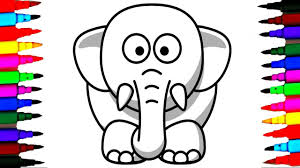color elephant coloring book u0026 drawing for toddlers learning how