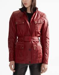 womens motorcycle clothing classic tourist trophy 4 pocket motorcycle jacket pure