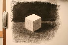kenney mencher demonstration how to draw a cube in charcoal