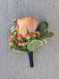 coral boutonniere celebration flair 2015