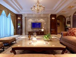 american style luxury living room dining room aisle design