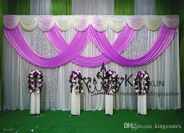 wedding backdrop fabric 2017 white and lilac color wedding backdrop drape curtain with