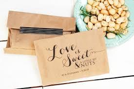 Pretzel Bags For Favors Love Is Nuts Wedding Favor Bag Nut Favor Candied Nuts