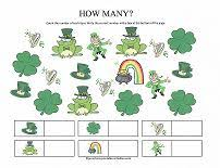 free preschool worksheets for st patrick u0027s day fun