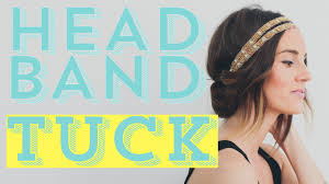 headband styler easy diy hair style tutorial the headband tuck