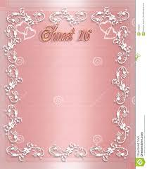 sweet 16 birthday invitation illustration 4169350 megapixl