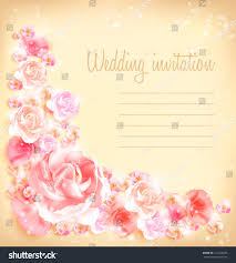 Background Images For Wedding Invitation Cards Wedding Invitation Card Vector Floral Background Stock Vector