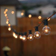 light bulb string lights 25ft g40 globe bulb string lights with 25 clear ball vintage bulb