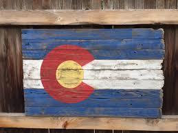 State Flag Of Colorado Rustic Wood Colorado Flag