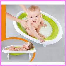 Mit Baby In Badewanne 2 In 1 Faltbare Neugeborenes Baby Badewanne Sitzen Liegen Dusche