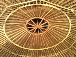 the top inside picture of the round barn theatre at amish acres