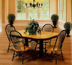 Pedestal Oak Table And Chairs Pedestal U0026 Trestle Tables From All Our Amish Craftsman