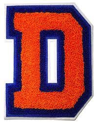 amazon com letter patch embroidered d varsity letterman premium
