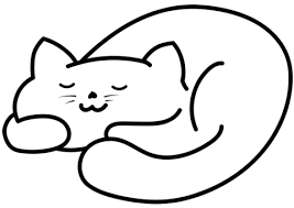 cat coloring pages images sleeping cat coloring page free printable coloring pages