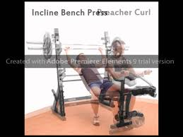 marcy md 857 iron grip olympic weight bench youtube