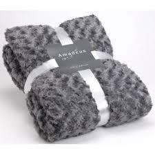 plaid gris pour canapé plaid amadeus anthracite grande taille achat vente couverture