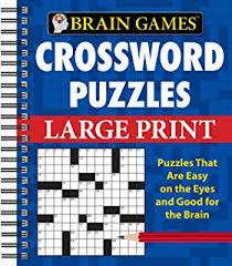 printable easy crossword puzzles with solutions 100 large print crossword puzzle book for seniors a unique large