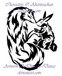 all color tribal rabbit tattoo designs photos pictures and