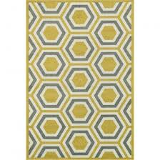 Yellow And Gray Outdoor Rug Shop Hexagon Citron Gray Outdoor Rug 7ft 10in X 10ft