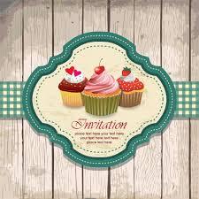 Cherry Cupcake Invitation Card Royalty Magdalena Stock Vectors Royalty Free Magdalena Illustrations