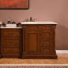 silkroad 57 inch antique single bathroom vanity cream marfil