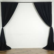 Black Backdrop Curtains 10 Ft X 10 Ft Polyester Professional Backdrop Curtains Wedding
