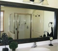 Frame Bathroom Mirror Kit Diy Frame Bathroom Mirror Akapello