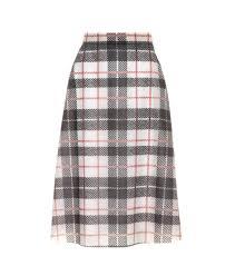 Tartan Tartan Printed Plastic Skirt Burberry Mytheresa