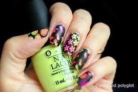nail art neon and black nail design nail crazies unite