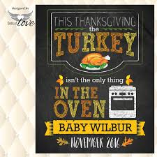 pregnancy announcement turkey in oven bun in oven thanksgiving