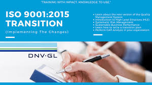 iso 9001 2015 quality management system transition training course