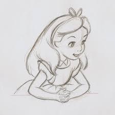 drawn alice wonderland cinderella pencil color drawn