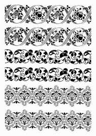 черно белый орнамент для декупажа картинки ornament