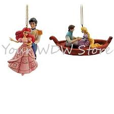 your wdw store disney jim shore ornament set ariel and eric