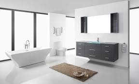 Virtu Bathroom Accessories by Virtu Usa Columbo 63 Single Bathroom Vanity Set In Grey Bathtubs