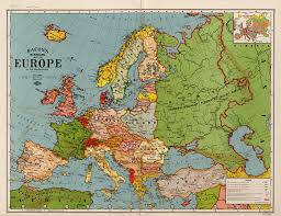 European Time Zone Map by Bacon U0027s Standard Map Of Europe World Digital Library