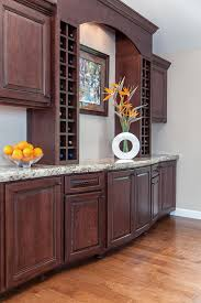 silver buffet server with custom cabinets wine cellar traditional